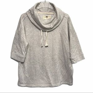 Cupio Metallic Gold/Gray Cowl Neck Sweater Large
